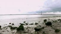 Humber Bridge & foreshore by Drone